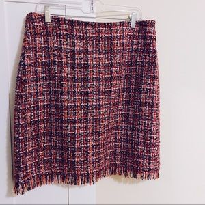 85% OFF! 💐 Talbots Tweed Check Colorful Skirt